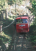 The old funicular railway - now operating with new carriages