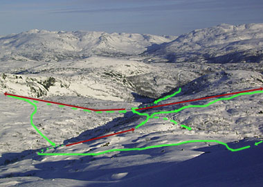 the new lift and runs connecting Aalsheia and Tjorhomfjellet ski centres