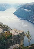 Pulpit rock with Lysefjord below