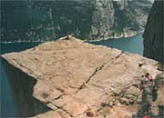 Pulpit Rock from above