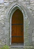 a door on the south side