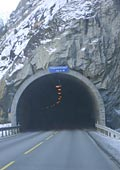 several tunnels going east out of Eidfjord