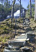 natural stone steps up